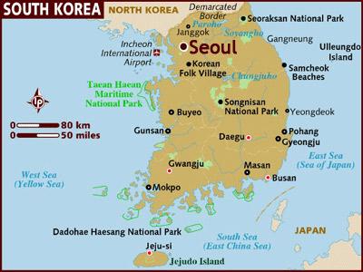 Gyeongju, located on the eastern coast of South Korea, north of Busan