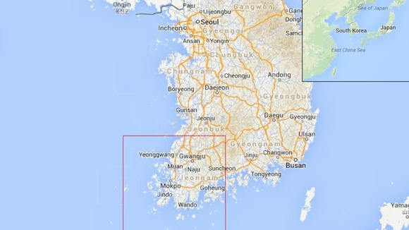 Jindo is located at almost the Southernmost part of the Korean peninsula. Source: itv.com