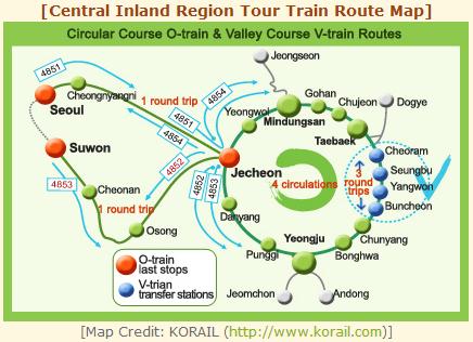 Map route of O-train and V-train. Source: http://korea.stripes.com